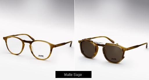 Garrett Leight Hampton Eyeglasses-Matte Sage