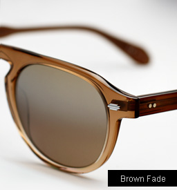 Garrett Leight Harding sunglasses - Brown Fade