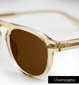 Garrett Leight Harding sunglasses - Champagne