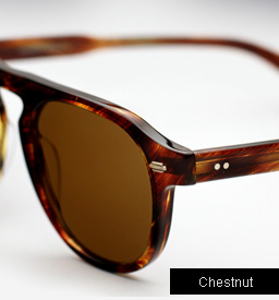 Garrett Leight Harding sunglasses - Chestnut