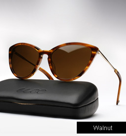Garrett Leight Lucille Sunglasses-Walnut