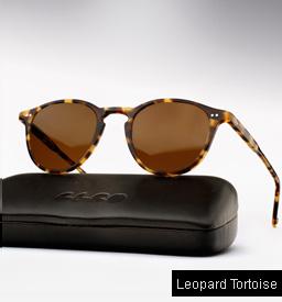 Garrett Leight Hampton sunglasses - Leopard Tortoise