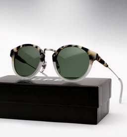 Super Panama Sunglasses - Matte Puma and Crystal
