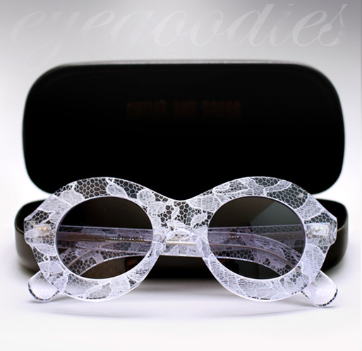 Cutler and Gross X Erdem Sunglasses - White Lace