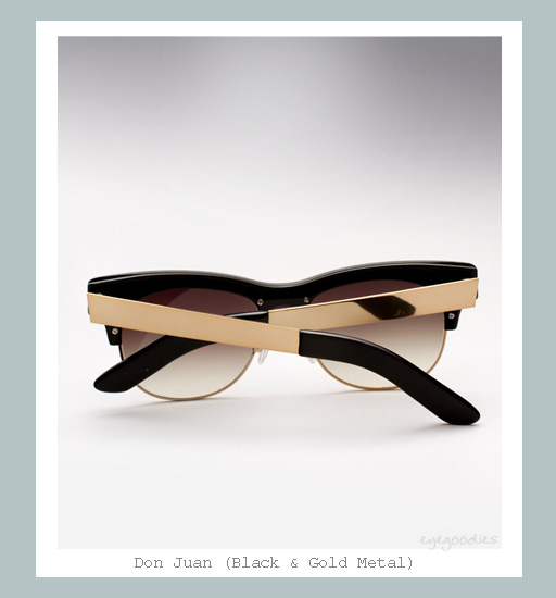 Ellery Don Juan Sunglasses - Black & Gold Metal