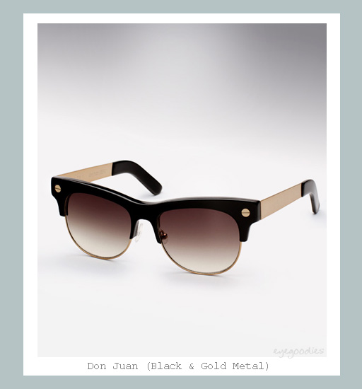 Ellery Don Juan Sunglasses - Black &amp; Gold Metal