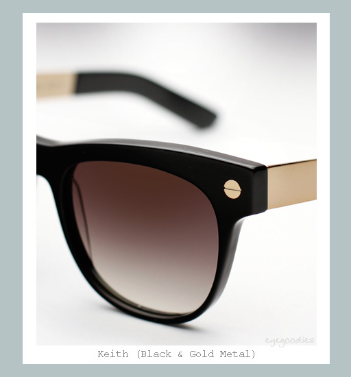 Ellery Keith Sunglasses - Black & Gold Metal