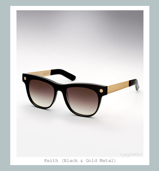 Ellery Keith Sunglasses - Black &amp; Gold Metal