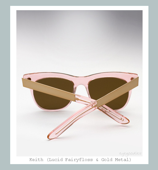 Ellery Keith Sunglasses - Lucid Fairyfloss & Gold Metal