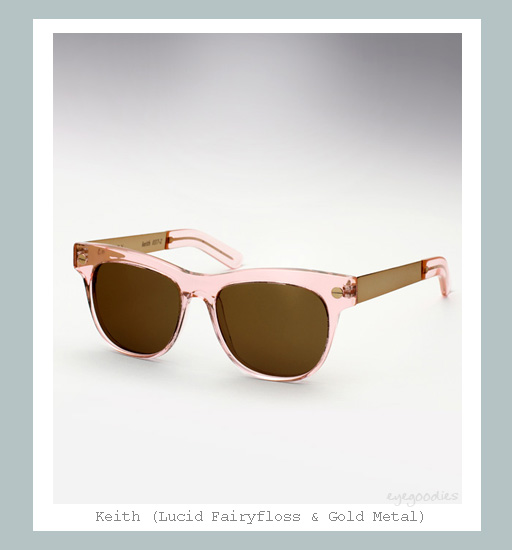 Ellery Keith Sunglasses - Lucid Fairyfloss &amp; Gold Metal