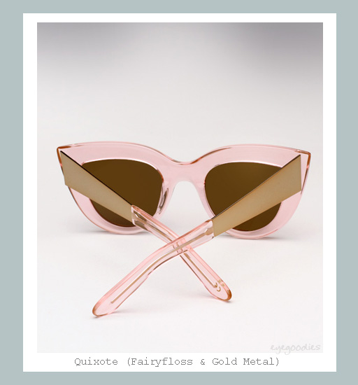 Ellery Quixote Cat eye Sunglasses - Fairyfloss &amp; Gold Metal