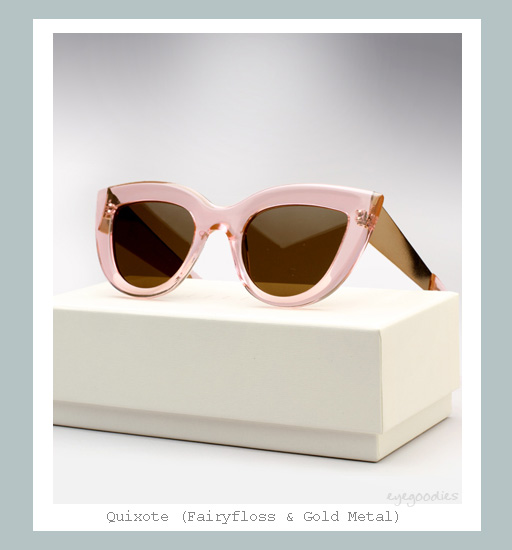 Ellery Quixote Sunglasses - Fairyfloss &amp; Gold Metal