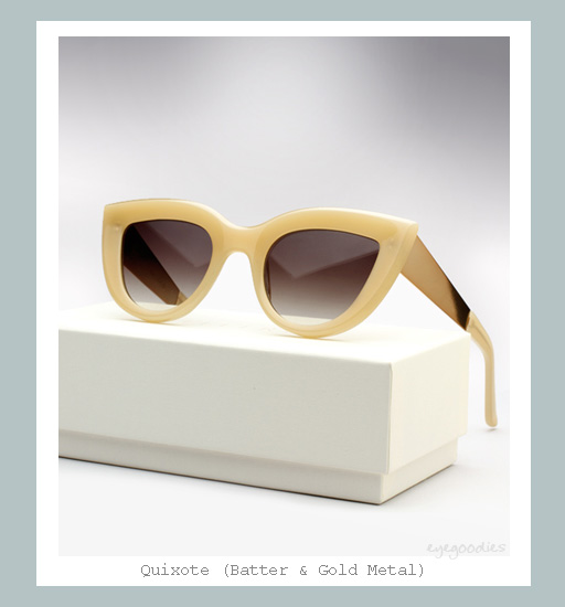 Ellery Quixote Cat eye Sunglasses - Batter &amp; Gold Metal