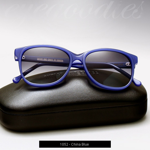 Cutler and Gross 1052 sunglasses in China Blue