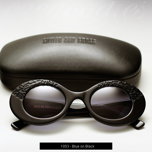 Cutler and Gross 1053 sunglasses - Blue on Black