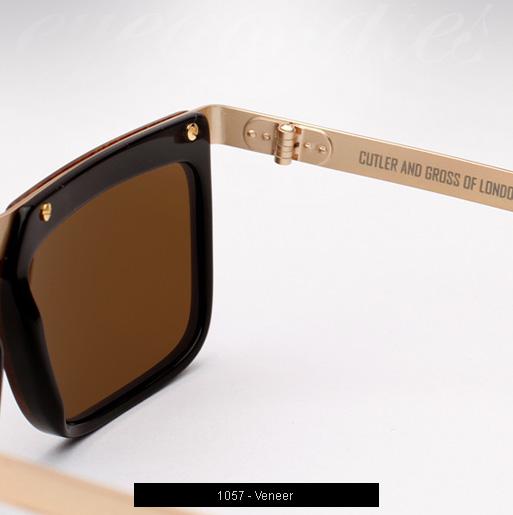 Cutler and Gross 1057 Sunglasses - Veneer