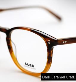 Garrett Leight Kinney eyeglasses - Dark Caramel Gradient