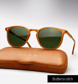 Garrett Leight Kinney sunglasses - Butterscotch