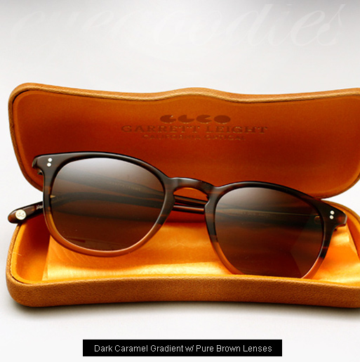Garrett Leight Kinney sunglasses - Dark Caramel Gradient