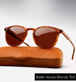 Garrett Leight Kinney sunglasses - Matte Honey Blonde Tortoise