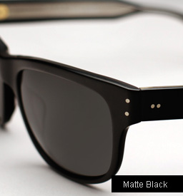 Garrett Leight Superba Sunglasses - Matte Black