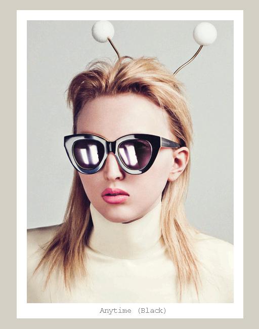 Karen Walker Anytime Sunglasses - Black