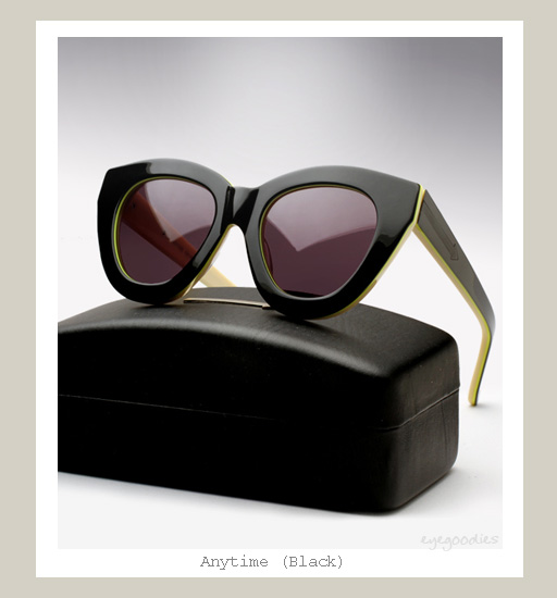 Karen Walker Anytime Sunglasses - Black