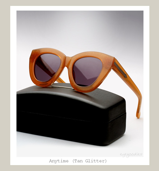 Karen Walker Anytime Sunglasses - Tan Glitter