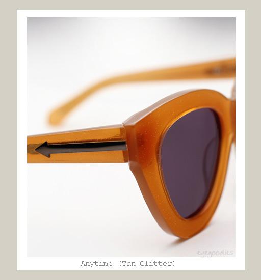 Karen Walker Anytime Sunglasses - Tan Glitter
