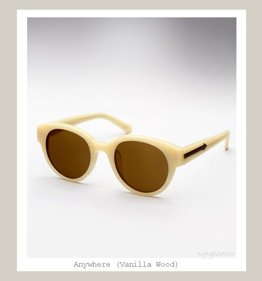 Karen Walker Anywhere sunglasses - Vanilla Wood