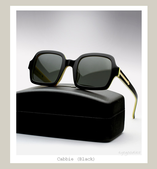 Karen Walker Cabbie Sunglasses - Black