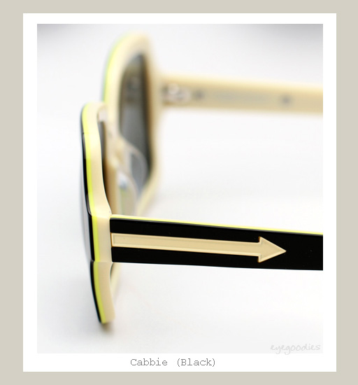 Karen Walker Cabbie Sunglasses - Black