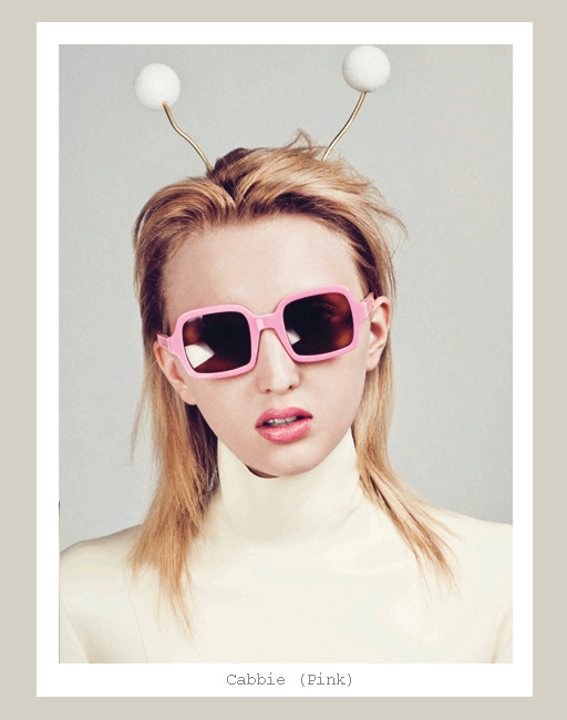Karen Walker Cabbie Sunglasses - Pink