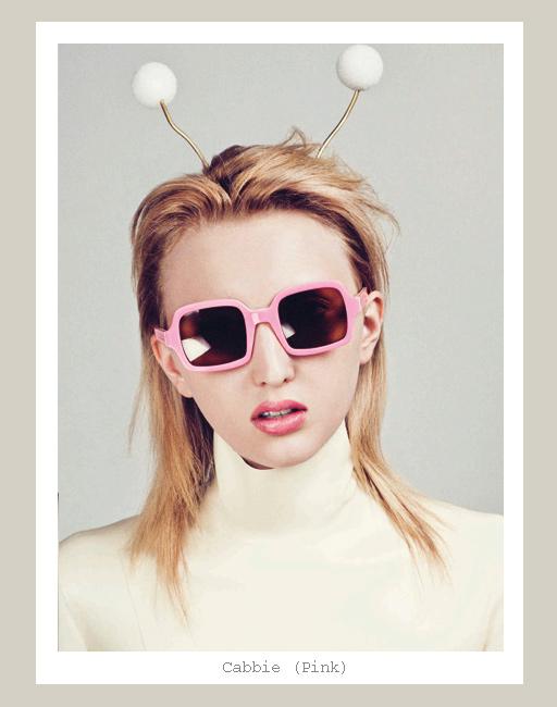 Karen Walker Cabbie Sunglasses - Pink