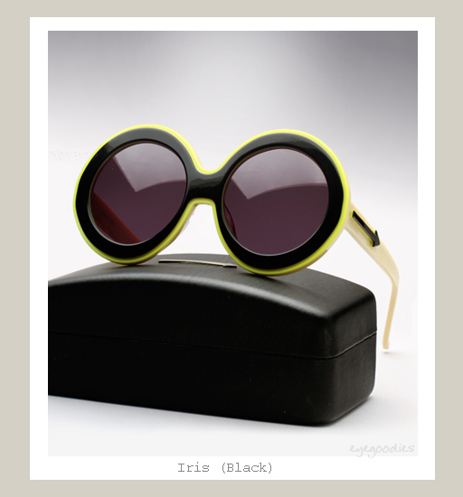Karen Walker Iris Sunglasses - Black