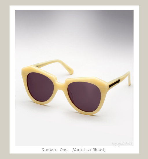 Karen Walker Number One sunglasses - Vanilla Wood