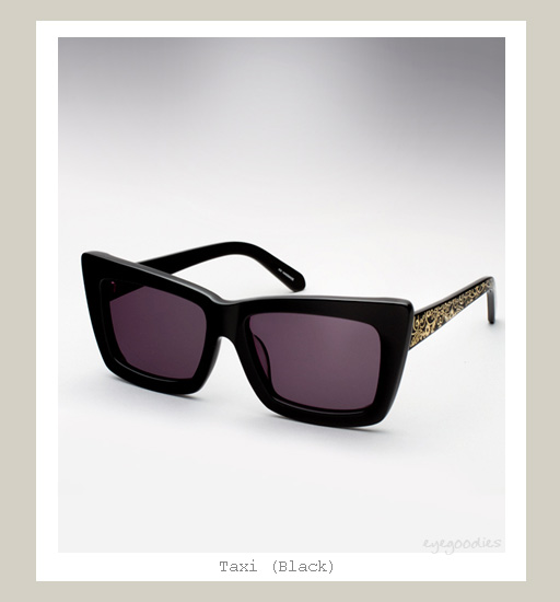 Karen Walker Taxi Sunglasses - Black