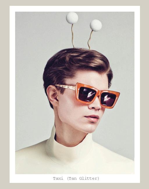Karen Walker Taxi Sunglasses - Tan Glitter