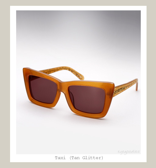 Karen Walker Taxi Sunglasses - Tan Glitter