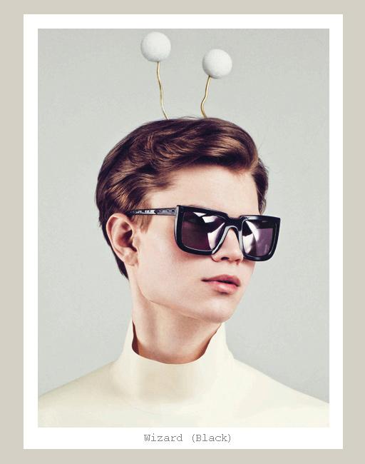 Karen Walker Wizard Sunglasses - Black