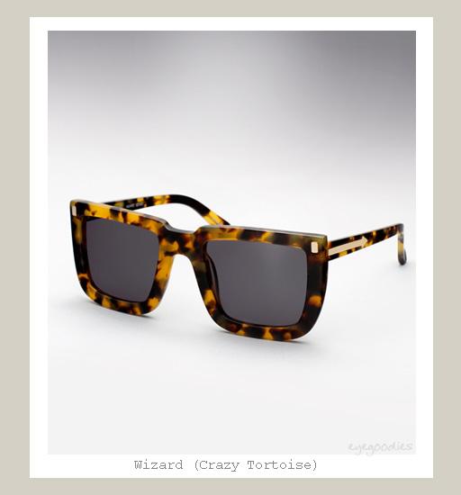 Karen Walker Wizard Sunglasses - Crazy Tortoise