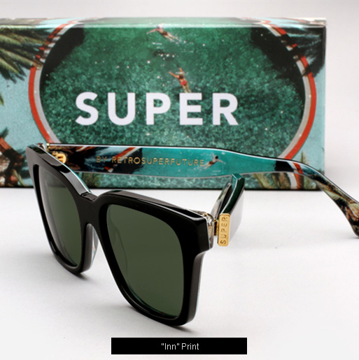 Super Inn Print Sunglasses