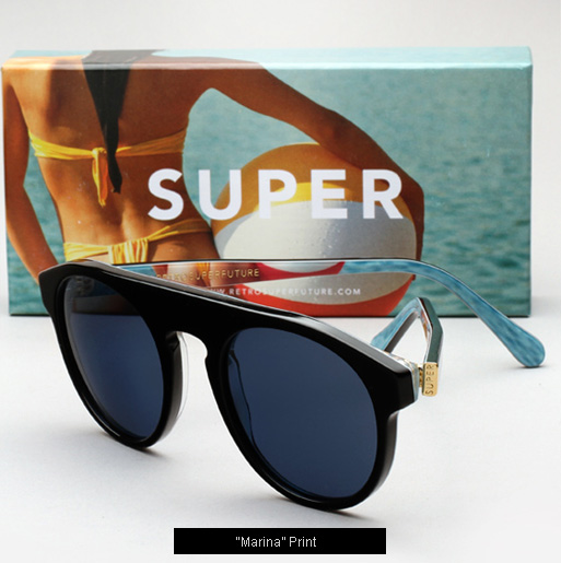 Super Marina Print Sunglasses
