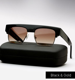 Graz General Idea Sunglasses -  black and gold metal