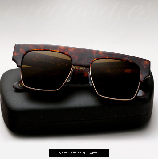 Graz General Idea Sunglasses -  matte tortoise and bronze