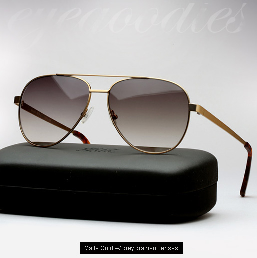 Graz Merik sunglasses - matte gold