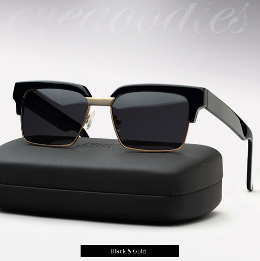 Graz Otis sunglasses - black and gold