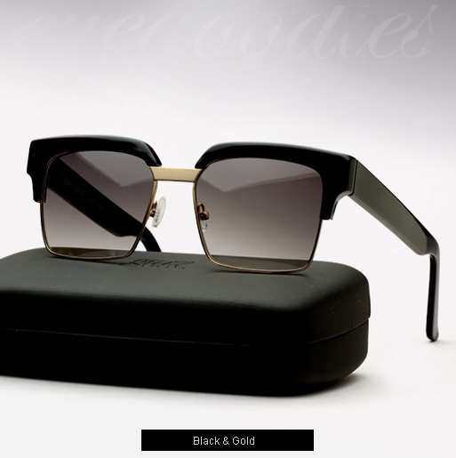Graz Ralph sunglasses - Black and Gold