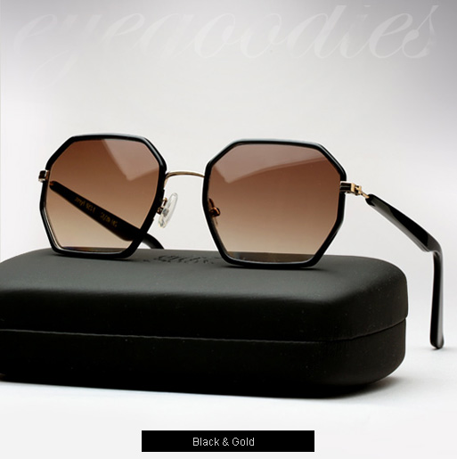 Graz Stray I sunglasses - Black and gold