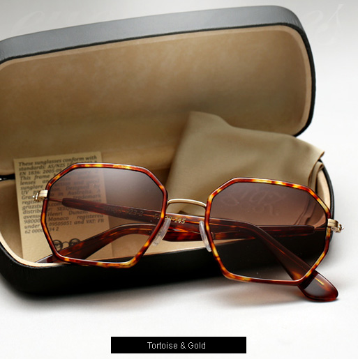 Graz Stray I sunglasses - Tortoise and gold